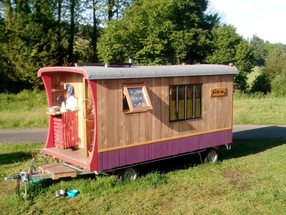 Roulotte -Tiny house, Ty Rodou, habitat alternatif, écologiques